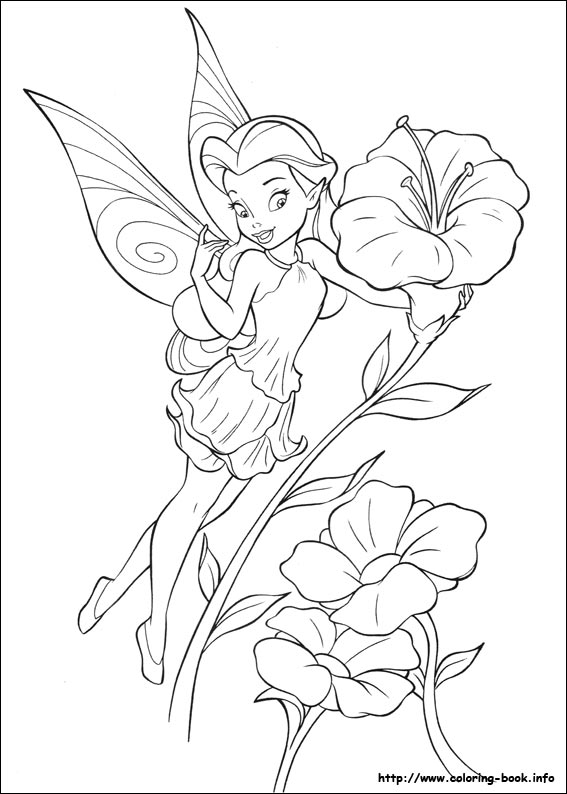 rosetta fairy coloring pages - printables